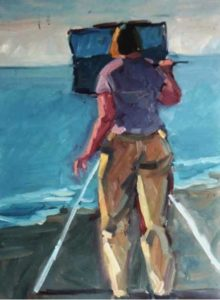 Phil-Lavine-Painting-by-the-Sea