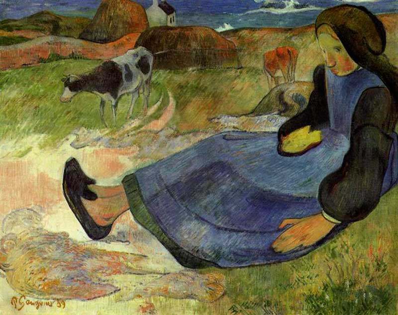paul-gauguin_seated-breton-girl-1889