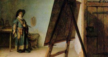 rembrandt_artist-in-his-studio