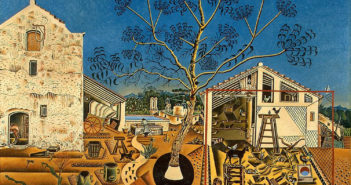 File name: 3275-002.jpg Joan Miró The Farm, 1921-1922 oil on canvas Overall: 123.8 x 141.3 x 3.3 cm (48 3/4 x 55 5/8 x 1 5/16 in.) framed: 138.4 x 155.9 x 7.6 cm (54 1/2 x 61 3/8 x 3 in.) National Gallery of Art, Washington, Gift of Mary Hemingway © 2012 Successió Miró/Artists Rights Society (ARS), New York/ADAGP, Paris