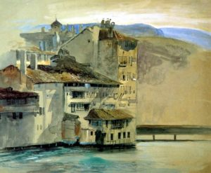 john-ruskin_old-houses-on-the-rhone-island-geneva-1863
