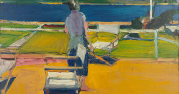 Richard Diebenkorn, Seated Nude, Arm on Knee, 1962. Oil on canvas, 51.25 x 45.75 in. Collection of the Oakland Museum of California, Gift of the Estate of Howard E. Johnson. © The Richard Diebenkorn Foundation.