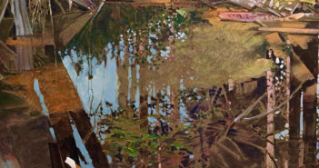 Pond on the Yakoun, Queen Charlotte Islands  30 x 34 inches, acrylic on canvas  by Robert Genn (1936-2014)