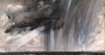 Seascape Study with Rain Cloud (Rainstorm over the Sea,) 1824-1828  oil on paper by John Constable
