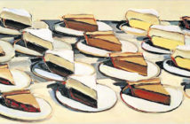 Pies, Pies, Pies (1961),  20 x 30 inches, oil on canvas by Wayne Thiebaud (b. 1920)