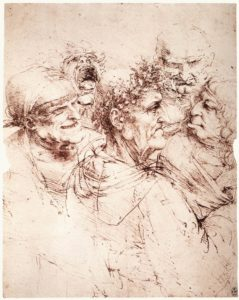 Leonardo_da_vinci,_Study_of_five_grotesque_heads