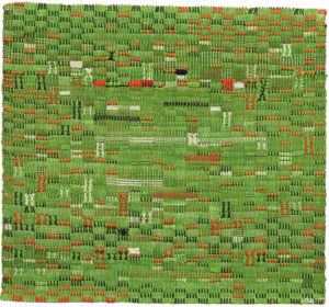 Pasture (1958) cotton, 394 x 356mm by Anni Albers (1899-1994)