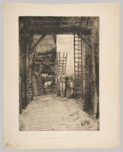 The Lime Burner, London, 1859 Drypoint etching 55.6 X 40.5 cm by James Abbott McNeill Whistler (1834-1903)