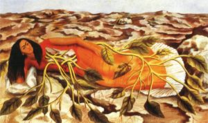 Roots, 1943 oil on metal 12 x 19.5 inches by Frida Kahlo (1907-1954)