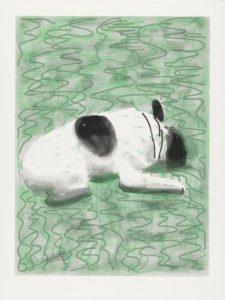 Moujik (2010) iPad drawing printed on paper, Edition of 25 94 x 71.1 cm by David Hockney (b.1937)