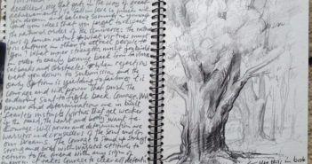Notebook sketch by Samuel Adoquei (b.1962)