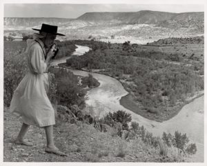 Todd Webb, Georgia O'Keeffe Photographing the Chama Valley, New Mexico, 1961