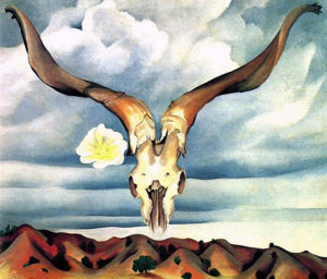 Ram's Head and White Hollyhock, New Mexico, 1935 oil on canvas 30 x 36 inches by Georgia O'Keeffe (1887-1986)