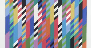 Fête, 1989 screenprint on paper  53 x 76 cm by Bridget Riley (b.1931)