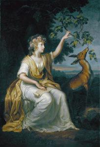 Portrait of Lady Charlotte Campbell, 1789 oil on canvas 197.2 x W 134 cm by Johann Heinrich Wilhelm Tischbein