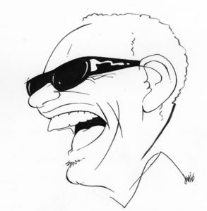 Ray ink drawing by Anthony Jenkins