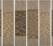 Six Prayers, 1966–67 cotton, linen bast, silver lurex 186 × 48.9 cm each panel by Anni Albers (1899-1994)