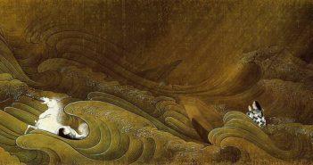 Ishiyama Temple Scroll, 1805) ink scroll by Tani Bunchō (1763-1841)