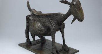 She-Goat, 1950 Bronze 46 3/10 × 56 3/10 × 28 1/10 inches by Pablo Picasso (1881-1973)
