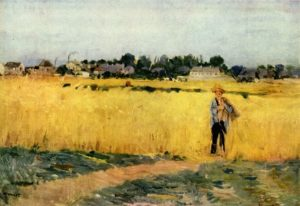 In the Wheatfield at Gennevilliers, c. 1875 oil on canvas 69 x 46.5 cm by Berthe Morisot