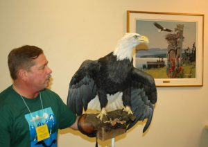 Hal with Bald Eagle, Haines, Alaska, 2005.