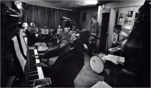 Thelonious Monk rehearsing in a loft at 821 6th Ave, February 1959, Heirs of W. Eugene Smith and the Center for Creative Photography at the University of Arizona photo