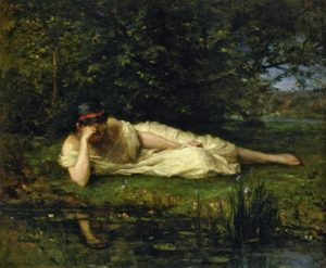 Study, The Water's Edge, 1864 oil on canvas 60 x 73.4 cm by Berthe Morisot