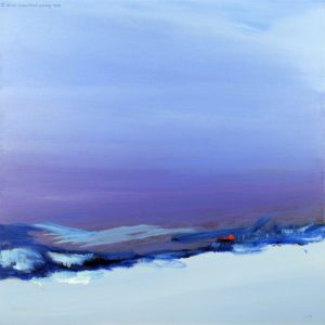 Purple Haze acrylic on canvas 75 x 75 cm by Brian Crawford Young
