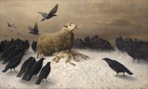 Anguish, 1878 oil on canvas 151.0 × 251.2 cm by August Friedrich Albrecht Schenck (1828-1901)