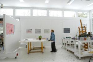 Helen Frankenthaler in her studio in Darien, Connecticut, 2003 Suzanne DeChillo photo