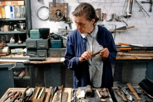 Louise Bourgeois in her studio in Chelsea, New York City, 1974.
