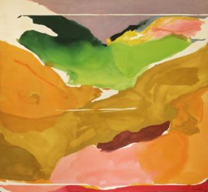 Nature Abhors a Vacuum, 1973 Acrylic on canvas 103 1/2 x 112 1/2 inches by Helen Frankenthaler (1928-2011)