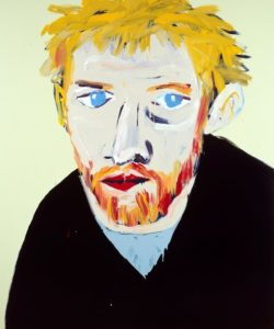 Portrait of David Wenham (Archibald Prize, 2000) acrylic on canvas 182 x 153 cm by Adam Cullen