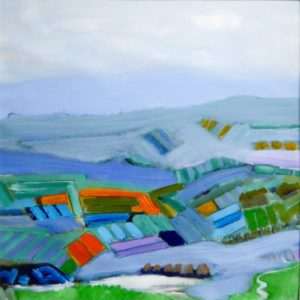 The Winding Road acrylic on paper 75 x 75 cm by Brian Crawford Young