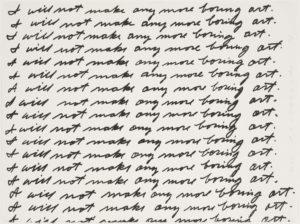 I Will Not Make Any More Boring Art, 1971 Lithograph 22 3/8 x 29 9/16 inches by John Baldessari