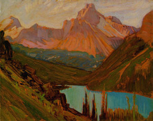 Cathedral Peak, 1927 oil on canvas by J.E.H MacDonald
