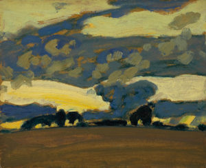 Fall Evening, 1930 oil on wood-pulp board 21.5 x 26.4 cm by J.E.H MacDonald
