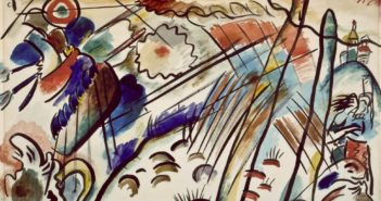 """Study for """"Improvisation 28"""" (Second Version), 1912 Watercolor, india ink, and graphite on paper 15 3/8 x 22 1/8 inches by Wassily Kandinsky"""