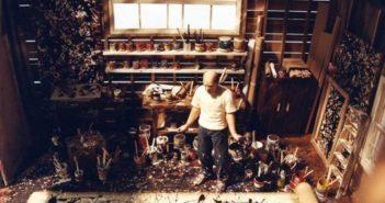 Diorama of Jackson Pollock in his studio (c. 2000-2019) by Joe Fig
