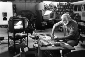 John Baldessari in his Santa Monica studio in 1986.
