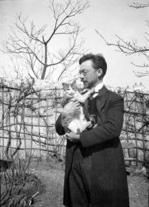 Wassily Kandinsky and his cat, Vaska