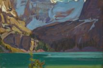 Lake O'Hara, Rockies, 1926 oil on wood-pulp board 21.5 X 26.6 cm by J.E.H. MacDonald