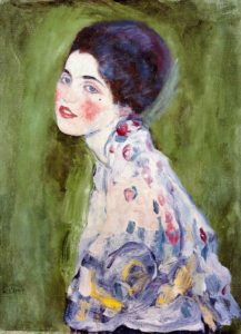 Portrait of a Lady (1916-1917) oil on canvas 60 cm × 55 cm by Gustav Klimt (1862-1918)