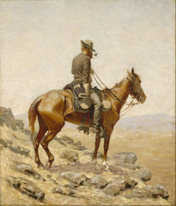 The Lookout, 1887 oil on canvas 25 15/16 × 21 15/16 inches by Frederic Remington