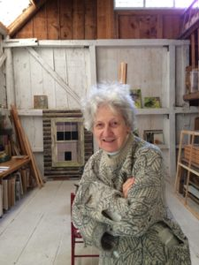 Lois Dodd in Cushing, Maine, 2014