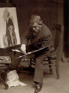 Joaquin Sorolla in his studio, Madrid, Spain