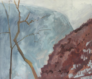 Water Gap, March, 2003 oil on masonite 14 x 16 inches by Lois Dodd