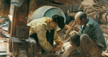 And They Still Say Fish is Expensive! 1894 oil on canvas  151.5 x 204 cm by Joaquin Sorolla (1863-1923)