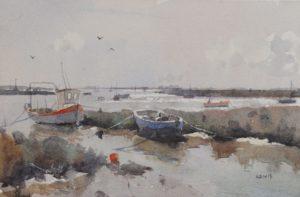 Aldeburgh, 2016 watercolour on paper 6.25×9.75 inches by Kieran Williamson at age 14 (b. 2002)