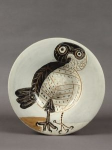Chouette, 1957 ceramic plate by Pablo Picasso